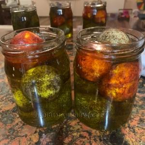 Сыр Шевр в оливковом масле.