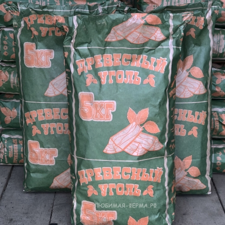 Древесный уголь 5 кг.